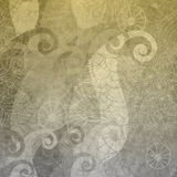 Gray wallpaper with vintage pattern vector illustration
