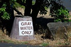 Gray Water Disposal Station en el camping del verano fotografía de archivo libre de regalías