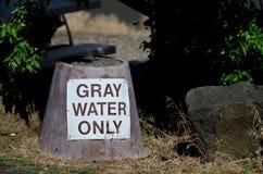 Gray Water Disposal Station en el camping del verano imagen de archivo libre de regalías