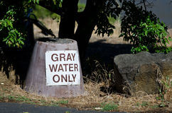 Gray Water Disposal Station at Summer Campground Royalty Free Stock Photography