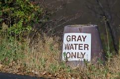 Gray Water Disposal Station at Summer Campground Royalty Free Stock Photo