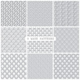 Gray wave traditional patterns Royalty Free Stock Photography