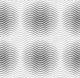 Gray wavy lines with thickenings Stock Photos