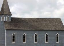 Gray Weathered Country Church immagine stock libera da diritti