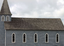 Gray Weathered Country Church Royalty Free Stock Image