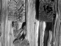 Gray  Log House Lumber Stock Photo