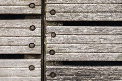 Gray weathered wooden wall texture Royalty Free Stock Photo