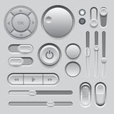 Gray Web UI Elements Design. Stock Photo