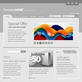 Gray Website Template Royalty Free Stock Photo