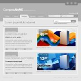 Gray Website Template Stock Photo
