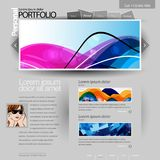 Gray Website Template Stock Photos