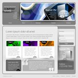 Gray Website Template 960 Grid. Royalty Free Stock Images