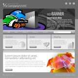 Gray Website Template 960 Grid. Stock Images