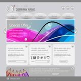 Gray Website Template 960 Grid. Eps 10 Stock Photo