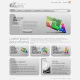 Gray Website Template 960 Grid. Stock Photography
