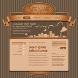 Gray Website Template 960 Grid. Eps 10 Royalty Free Stock Photo