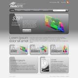 Gray Website Template 960 Grid. Royalty Free Stock Image