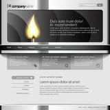 Gray Website Template 960 Grid. Eps 10 Royalty Free Stock Image