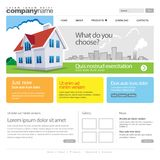 Gray Website Template 960 Grid. Eps 10 Royalty Free Stock Photos