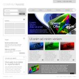 Gray Website Template 960 Grid. Stock Photos