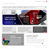 Gray Website Template 960 Grid. Royalty Free Stock Photography