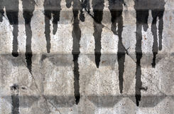 Gray wet wall texture Stock Photography