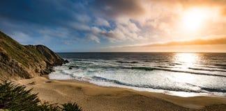 Gray Whale Cove Beach California lizenzfreie stockbilder