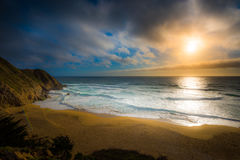 Gray Whale Cove Beach California lizenzfreie stockfotografie