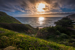 Gray Whale Cove Beach California Stock Photography