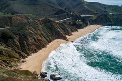 Gray Whale Cove State Beach in Californi? stock fotografie