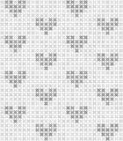 Gray and white abstract pattern with hearts. Seamless vector bac. Kground: dark and light gray shapes on white backdrop royalty free illustration