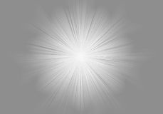 Gray and white burst. Illustration of a burst of white light in the center of a honeycomb gray background Royalty Free Stock Images