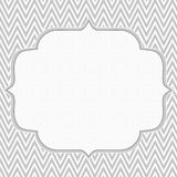 Gray and White Chevron Zigzag Frame Background Royalty Free Stock Photography