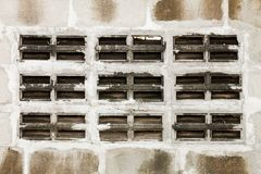 Gray and white cinder block wall Royalty Free Stock Photography
