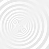 Gray and white concentric circles background.  stock illustration