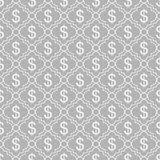 Gray and White Dollar Sign Pattern Repeat Background Stock Photography