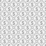 Gray and White Dollar Sign Pattern Repeat Background Royalty Free Stock Images