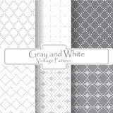 Gray and White dot vintage pattern Stock Photo