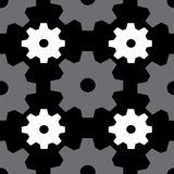 Gray and white gears Stock Images