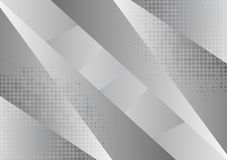 Gray and white geometric abstract background, Vector illustration with copy space.  royalty free illustration