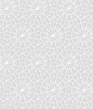 Gray and white geometric crochet lace circle stars seamless pattern, vector. Background Royalty Free Illustration