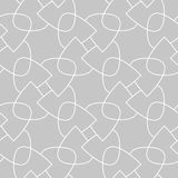 Gray and white geometric print. Seamless pattern. For web, textile and wallpapers Royalty Free Stock Photography