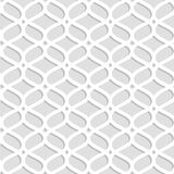 Gray and white laser cut paper geometric lacy seamless pattern, vector. Background Stock Photos