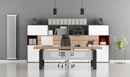 Gray and white modern office Stock Photography