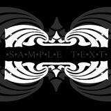 Gray And White Ornate Quad Banner Royalty Free Stock Photography