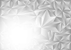 Gray and white polygon abstract vector background, Vector illustration.  Royalty Free Stock Image