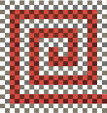 Gray white red checkered background Stock Images