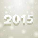 2015 gray and white spots background. 2015 and white spots on gray background stock illustration