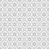 Gray and White Star of David Repeat Pattern Background. That is seamless and repeats Royalty Free Stock Photo