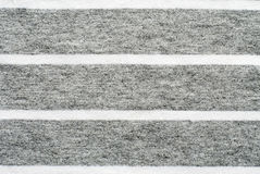 Gray and white striped cotton polyester texture. Background Stock Photo